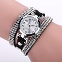 ราคาถูก กระเป๋าตกปลา-สำหรับผู้หญิง สุภาพสตรี นาฬิกาใส่ลำลอง นาฬิกาสร้อยข้อมือ จำลอง Diamond Watch นาฬิกาอิเล็กทรอนิกส์ (Quartz) PU Leather ดำ / สีขาว / ฟ้า นาฬิกาใส่ลำลอง เลียนแบบเพชร ระบบอนาล็อก ไม่เป็นทางการ แฟชั่น -