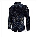 זול צמידי גברים-פרחוני סגנון סיני מידות גדולות חולצה - בגדי ריקוד גברים / שרוול ארוך