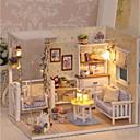ieftine Case de Păpuși-3D Wooden Miniaturas Dollhouse Casa Păpușilor Încântător Rafinat Romantic Bucăți Pentru copii Adulți Fete Jucarii Cadou
