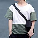 tanie Zestawy ubrań dla chłopców-Brzdąc Dla chłopców Aktywny Wielokolorowa Niejednolita całość Krótki rękaw Len T-shirt