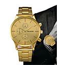 ieftine Oțel Inoxidabil-Bărbați Ceas Elegant Auriu Cronograf Creative Mare Dial Analog Lux Clasic - Negru Auriu Un an Durată de Viaţă Baterie / SSUO LR626