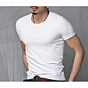 cheap High Quality Duvet Covers-Men's Active Plus Size Cotton T-shirt - Solid Colored Round Neck White XL / Short Sleeve / Summer