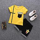 preiswerte Jungenschuhe-Baby Jungen Aktiv Alltag / Schultaschen Druck Kurzarm Standard Baumwolle / Acryl Kleidungs Set Weiß / Niedlich