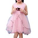 tanie Sukienki dla dziewczynek-Dzieci Dla dziewczynek Aktywny Święto Solidne kolory Łuk / Siateczka Bez rękawów Sukienka / Bawełna / Śłodkie