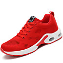 cheap Women's Boots-Women's Shoes Knit / Customized Materials / Fabric Fall / Winter Comfort Athletic Shoes Running Shoes Lace-up Black / Red / Pink