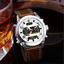 preiswerte Mechanische Uhren-Herrn Paar Armbanduhren für den Alltag Modeuhr Kleideruhr Japanisch Quartz 30 m Wasserdicht Kalender Chronograph Leder Band Analog-Digital Luxus Modisch Braun - Weiß Rot Blau / Nachts leuchtend