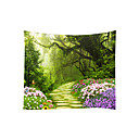 cheap Wall Murals-Garden Theme Landscape Wall Decor 100% Polyester Classic Modern Wall Art, Wall Tapestries Decoration