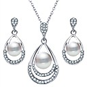 cheap Jewelry Sets-Women's Pearl Jewelry Set - Imitation Pearl Drop Simple, Sweet Include Silver For Daily Festival / Earrings