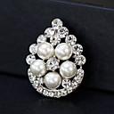 baratos Broches-Mulheres Broches - Pérola Europeu, Fashion Broche Dourado / Prata Para Casamento / Diário