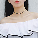 cheap Jewelry Sets-Choker Necklace - Sterling Silver Fashion Black 39.5 cm Necklace For Gift, Daily