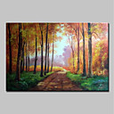 cheap Framed Arts-Mintura® Large Size Hand Painted Trees Landscape Oil Painting On Canvas Wall Art Picture For Home Decoration No Frame