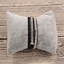 cheap Men's Bracelets-Women's Leather Bracelet - Leather Ladies, Basic Bracelet Jewelry Black / Beige / Gray For Gift Daily