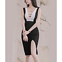 tanie The Freshest One-Piece-Damskie Moda miejska Szczupła Spodnie - Kolorowy blok Czarny / W serek / Wyjściowe / Seksowny