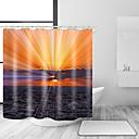 halpa Suihkuverhot-Suihkuverhot ja koukut Vapaa-aika Välimeren Polyesteri Yhtenäinen Uutuudet Tehty koneellisesti Vedenkestävä Kylpyhuone