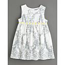 tanie Sukienki dla dziewczynek-Brzdąc Dla dziewczynek Podstawowy Codzienny Kwiaty Sukienka Biały 110 / Śłodkie