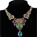 preiswerte Modische Halsketten-Damen Kristall Statement Ketten - Luxus, Mehrfarbig Schwarz, Regenbogen Modische Halsketten Schmuck Für Party