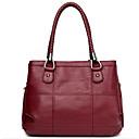זול תיקי צד-בגדי ריקוד נשים שקיות PU תיק כתף רוכסן אפור / סגול / Wine