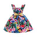 זול שמלות לבנות-שמלה כותנה פוליאסטר אביב קיץ ללא שרוולים יומי ליציאה פרחוני הילדה של חמוד פעיל ורוד מסמיק