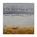 tanie Baterie łazienkowe-Hang-Malowane obraz olejny Ręcznie malowane - Abstrakcja / Krajobraz Nowoczesne / Nowoczesny Płótno / Rozciągnięte płótno