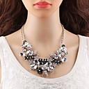 billige Golf Accessories-store halskæder Uttalelse Halskjeder - Blomst Europeisk, Elegant Hvit 45+8.5 cm Halskjeder Smykker Til Fest, Formell
