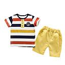 tanie Zestawy ubrań dla chłopców-Brzdąc Dla chłopców Podstawowy Prążki Krótki rękaw Bawełna Komplet odzieży