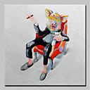 billige Trykk-Hang malte oljemaleri Håndmalte - Pop Kunst Moderne Lerret