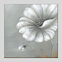 رخيصةأون لوحات الزهور والنباتات-هانغ رسمت النفط الطلاء رسمت باليد - الأزهار/النباتية الحديث