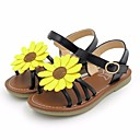 cheap Girls' Shoes-Girls' Shoes Leatherette Summer Flower Girl Shoes Sandals for Kids Gold / Black / Pink