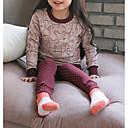 זול הלבשה תחתונה וגרביים לבנות-לבוש שינה כותנה שרוול ארוך פסים בנות פשוט ורוד מסמיק