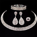 cheap Earrings-Women's Layered Jewelry Set - Drop European, Fashion, Multi Layer Include Drop Earrings White For Wedding