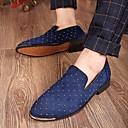 זול תיקי צד-בגדי ריקוד גברים PU אביב / סתיו נוחות נעליים ללא שרוכים שחור / כחול