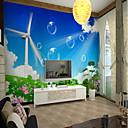 abordables Caja de TV-Mural Lona Revestimiento de pared - adhesiva requerida Art Decó Patrón 3D