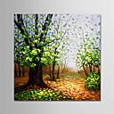 tanie Obrazy: motyw roślinny/botaniczny-Hang-Malowane obraz olejny Ręcznie malowane - Krajobraz Nowoczesny Zwinięte płótna / Zwijane płótno