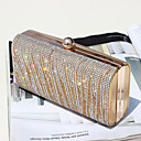 cheap Clutches & Evening Bags-Women's Bags PU(Polyurethane) Clutch Buttons / Crystals Gold