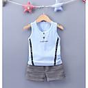 ieftine Pantaloni Băieți-Copil Băieți Imprimeu Fără manșon Set Îmbrăcăminte / Draguț