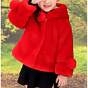 cheap Girls' Jackets & Coats-Girls' Weekend Solid Down & Cotton Padded Winter White Red Fuchsia