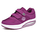 cheap Women's Sneakers-Women's Shoes Leatherette Spring / Fall Comfort Sneakers Flat Heel Round Toe Black / Gray / Purple