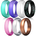 cheap Bracelets-Silicone Rings / Singles Wedding Bands With 7 pcs Style, Ideal, Affordable Comfortable For Women's Exercise & Fitness / Travel / Work