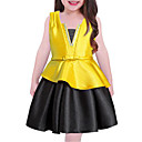cheap Girls' Dresses-Girl's Solid Dress, Cotton Polyester Spring, Fall, Winter, Summer Sleeveless Casual Blue Red Yellow