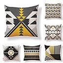 cheap Slipcovers-6 pcs Textile Cotton / Linen Pillow Cover, Geometric Special Design Novelty Classic Style High Quality