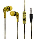 cheap Television & Computer Monitor-Reflective Cloth Line Earphone Headphone Crack Earbuds with Microphone Stereo Headset for Mobile Phone iPhone with Mic