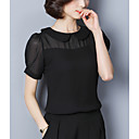 cheap Necklaces-Women's Street chic Slim Blouse - Solid Colored / Sheer