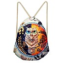 cheap Backpacks-Women's Bags Canvas Backpack Hollow-out Rainbow