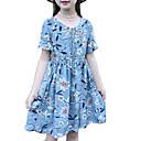 tanie Sukienki dla dziewczynek-Dzieci Dla dziewczynek Aktywny Święto Solidne kolory Krótki rękaw Sukienka / Bawełna / Śłodkie