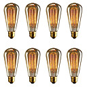 abordables Bombillas Incandescentes-brelong 8 pcs e27 40w st64 bombilla decorativa edison regulable blanco cálido ac220v / ac110v