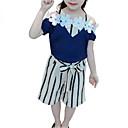 tanie Sukienki dla dziewczynek-Dzieci Dla dziewczynek Podstawowy Solidne kolory Krótki rękaw Bawełna Komplet odzieży