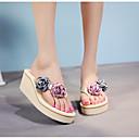 ieftine Sandale de Damă-Pentru femei Pantofi PU Vară Confortabili Papuci & Flip-flops Creepers Alb