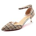 ieftine Tocuri de Damă-Pentru femei Pantofi PU Primăvară / Vară Confortabili Tocuri Toc Stilat Vârf ascuțit Alb / Gri / Galben
