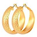 olcso Divat fülbevalók-Francia kapcsos fülbevalók - Menő, Túlméretezett Arany / Ezüst Kompatibilitás Estély / Randi