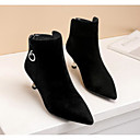 cheap Women's Boots-Women's Shoes Nubuck leather Fall Bootie Boots Stiletto Heel Booties / Ankle Boots Black